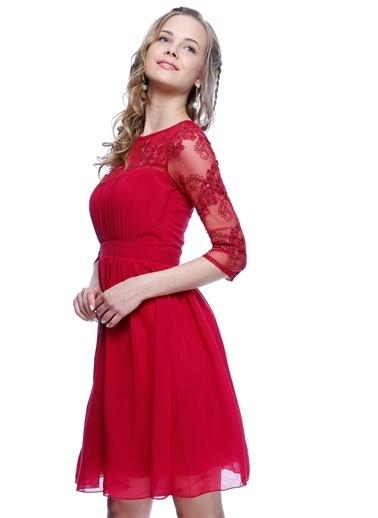 Lıttle Mıstress Kısa Abiye Elbise Bordo